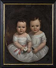 WALTER INGALLS (AMERICAN 1805-1874). PORTRAIT OF ADDA VIOLA AND BENJAMIN FRANK ROGERS.