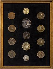 COLLECTION OF AMERICAN AND EUROPEAN YACHTING MEDALS, NINETEENTH - TWENTIETH CENTURY.