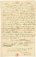COLONEL JOHN FLOYD, AUTOGRAPH LETTER SIGNED, TO THOMAS L. LESTER, ESQ., SMITHTOWN, LONG ISLAND, NEW YORK, AUGUST 25, 1813.