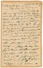 DAVID GELSTON, APPOINTED DELEGATE TO THE LAST SESSION OF THE CONFEDERATION CONGRESS. AUTOGRAPH LETTER SIGNED, TO JOHN SMITH, NEW YORK, JANY. 20, 1789.