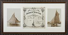 BROOKLYN YACHT CLUB MEMBERSHIP CERTIFICATE FOR THE YACHT