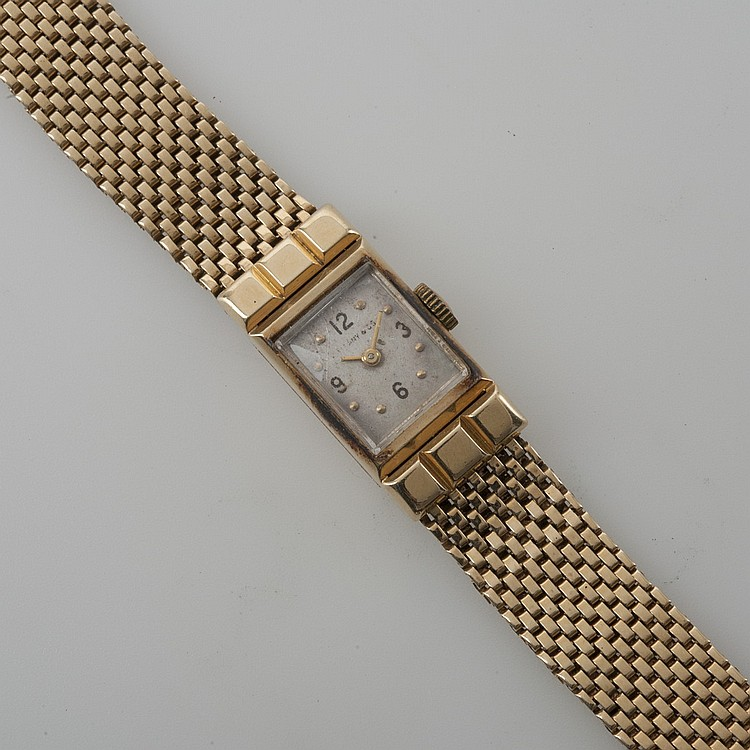LADY'S 14K GOLD TIFFANY & CO. WRISTWATCH.