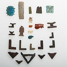 TWENTY-FIVE EGYPTIAN AMULETS, NEW KINGDOM, GRECO-ROMAN AND LATE PERIODS.