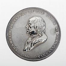 FRANKLIN INSTITUTE OF THE STATE OF PENNSYLVANIA 'REWARD OF SKILL AND INGENUITY' MEDAL, DATED 1847.