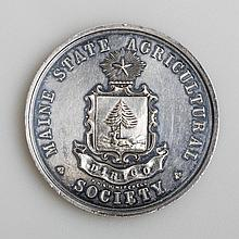 MAINE STATE AGRICULTURAL SOCIETY COMMEMORATIVE MEDAL, DATED 1859.