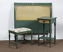DANERSK STAMPED GREEN AND IVORY-PAINTED COTTAGE SUITE.