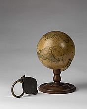 TERRESTRIAL TABLE GLOBE, GILMAN JOSLIN, BOSTON, 1846.