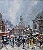 477 JOHN WHORF (AMERICAN 1903-1959). FANEUIL HALL AND QUINCY MARKET, BOSTON. Watercolor on paper, 20 1/2 x 18 inches, sight. Signed 'John Whorf' l.r. Est. $2,000 - $3,000, John Whorf, Click for value