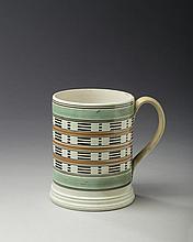 BRITISH PEARLWARE MOCHAWARE MUG, CIRCA 1820.