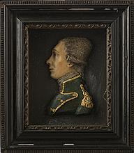 WAX PROFILE BUST PORTRAIT OF GENERAL LAFAYETTE, EARLY NINETEENTH CENTURY.