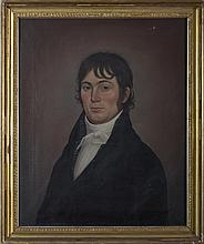 AMERICAN PORTRAIT OF A DARK-HAIRED GENTLEMAN, CIRCA 1810.