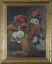 BEATRICE S. UTLEY (AMERICAN 1915-1998). STILL-LIFE WITH POPPIES.