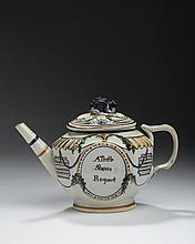 STAFFORDSHIRE PEARLWARE ENAMEL-DECORATED