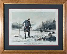 CURRIER & IVES. AMERICAN WINTER SPORTS. TROUT FISHING