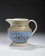 BRITISH MOCHAWARE SLIP-TRAILED TWIG JUG, CIRCA 1820-30.