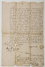 BOSTON DEEDS GRANTED BY KATHARINE CHILD MENZIES TO RICHARD STANBRIDGE, KATHARINE STANBRIDGE AND CAPT. RICHARD GILLAM, FEBRUARY 16, 1722.