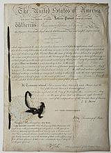 JOHN QUNICY ADAMS, PRESIDENT OF THE UNITED STATES, AND HENRY CLAY, SECRETARY OF STATE. SIGNED LETTERS PATENT, WASHINGTON D.C., 19 AUGUST, 1826.