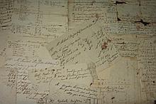 BUSINESS ACCOUNTS, RECEIPTS, LOAN DOCUMENTS AND PLOT PLAN PERTAINING TO CAPT. MICHAEL BRIGDEN, CHARLESTOWN, MASSACHUSETTS, 1734-1768.