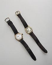 HAMILTON WRISTWATCH AND A WALTHAM WRISTWATCH.