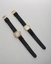 TWO ROLEX CUSHION-FORM WRISTWATCHES.
