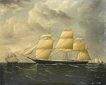 JAMES E. BUTTERSWORTH (AMERICAN 1817-1894). THE AMERICAN CLIPPER SHIP