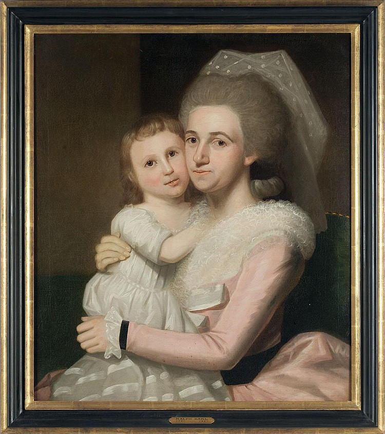 RALPH EARL (AMERICAN 1751-1801). PORTRAIT OF ANNIE