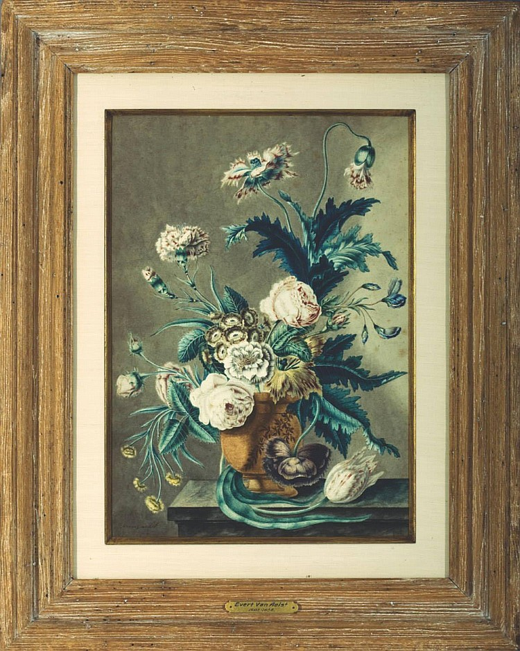 EVERT VAN AALST (DUTCH 1602-1657). PAIR OF FLORAL