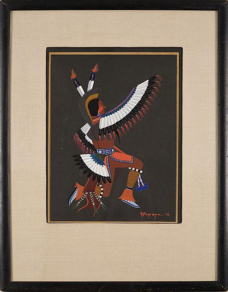 STEPHEN MOPOPE (QUED KOI / PAINTED ROBE) (NATIVE