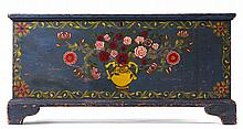 FINE PAINT-DECORATED WHITE PINE BLANKET CHEST, ALBANY COUNTY, NEW YORK, CIRCA 1830.