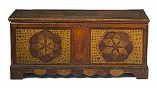PENNSYLVANIA PAINTED AND DECORATED BLANKET CHEST.