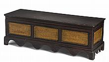 NEW ENGLAND MINIATURE GRAIN-PAINTED DOWER CHEST.