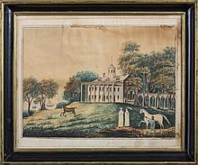 MOUNT VERNON, THE SEAT OF THE ILLUSTRIOUS WASHINGTON, AFTER WILLIAM RUSSELL BIRCH, EARLY NINETEENTH CENTURY.