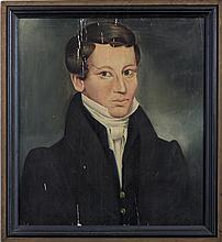 SHELDON PECK (AMERICAN 1797-1868). PORTRAIT OF SOLOMON K. NELLIS OF ONEIDA, NEW YORK, 1831.