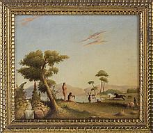 ADAM AND EVE IN THE GARDEN OF EDEN. IN THE STYLE OF JOHN MARTIN (BRITISH 1789-1854).