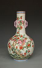 Great Daoguang-style  Chinese famille rose vase, marked