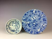 Pair of Chinese and japanese porcelian plates.