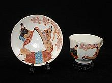 Set of Japanese Porcelain Cup & Saucer