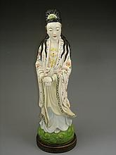 Pretty Chinese famille rose porcelain figure