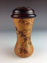 Rare Chinese Gourd Bottle Cricket Cage with Stand