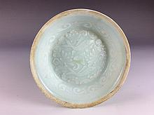 Vintage Song style Chinese celadon plate