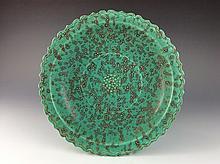 Chinese flambe glazed porcelain plate