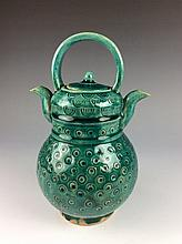 Fine Chinese green glazed porcelain water pot