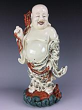 Chinese Famille rose porcelain buddha figure,