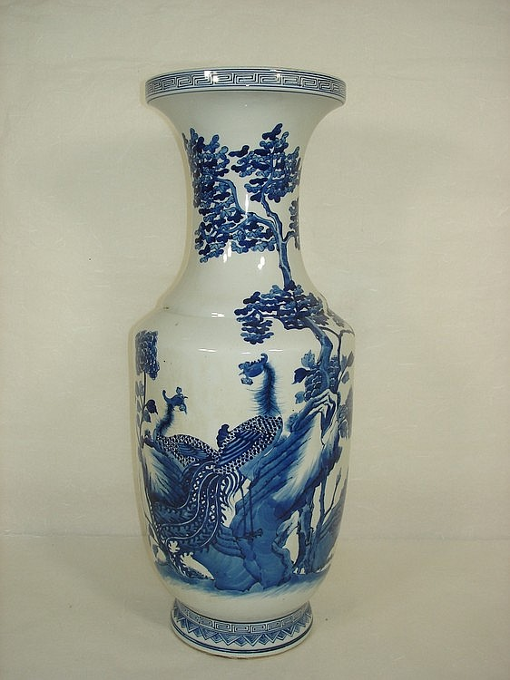 Chinese Porcelain Vase with B/W Phoenix Marked