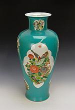 Fine Chinese Famille Verte porcelain vase