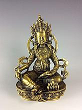 Fine Tibetan Gilt Bronze Buddha Statue