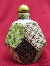 Chinese cloisonne Snuff bottle - polychome