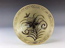 Chinese Song Ji ware style porcelain white glazed bowl