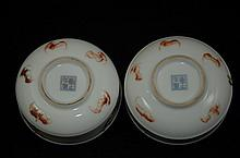Pair of Chinese porcelain shallow bowls