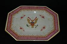 Chinese export famille roase plate
